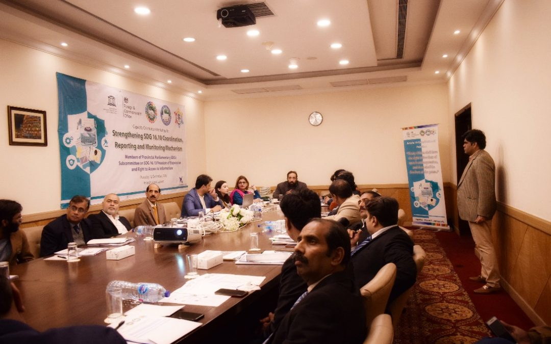 Capacity Development of Working Group on SDG 16.10.1 Reporting, Coordination and Monitoring Mechanisms (Punjab)